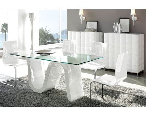 designer dining room sets modern dining room set made in spain wave 3323wv