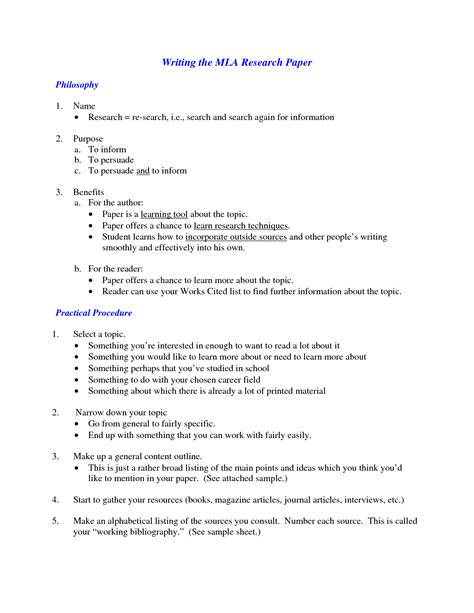 abortion research paper outline mla style research paper format