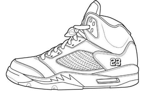 coloring pages of air jordan shoes jordan coloring pages printable coloring image