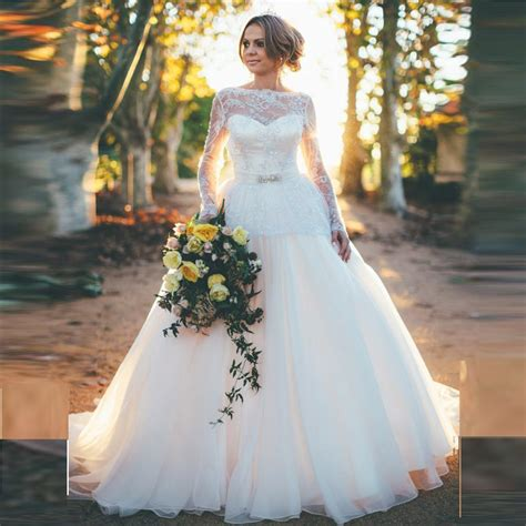white wedding gowns with sleeves back open princess wedding dresses with sleeves