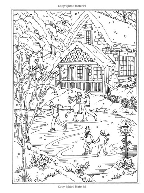 winter wonderland christmas coloring 197960925x amazon com creative haven winter wonderland coloring book coloring 9780486805016