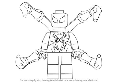 learn how to draw lego iron spider lego step by step