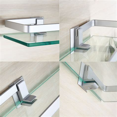 glass bathroom stand 35cm glass bathroom shelf rectangle wall mounted sundries