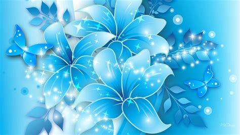 flowers in light light blue flower background wallpaper