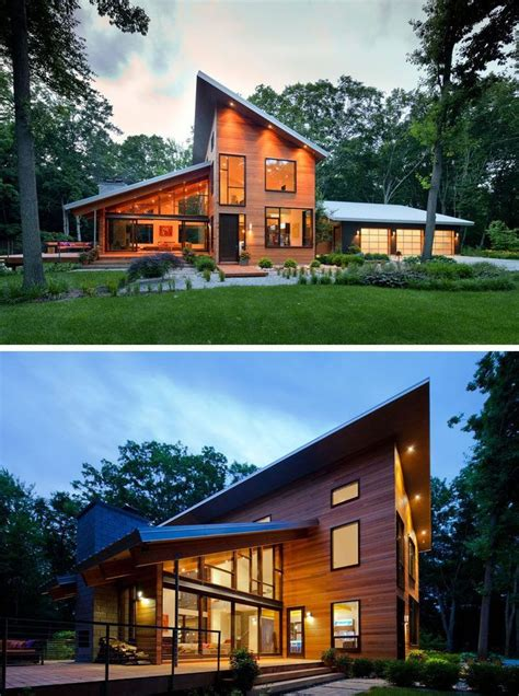 examples  modern houses   sloped roof house