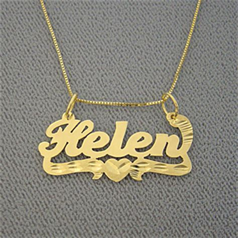 gold nonnude personalized gold custom name pendant necklace jewelry for