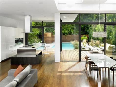 home design split house open plan interior design