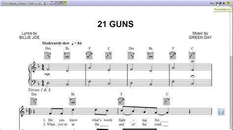 guitar tutorial 21 guns quot 21 guns quot green day piano sheet music teaser youtube