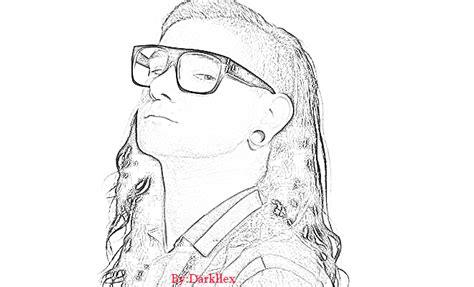Imagenes De Skrillex Para Dibujar A Lapiz | skrillex dibujo by darkllex on deviantart