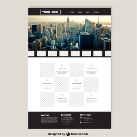 website layout template vector big city elegant website template vector free download