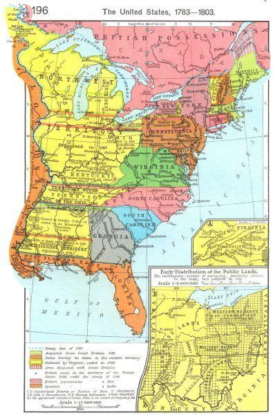 us map 1783 usa us 1783 1803 state of franklin early lands ohio