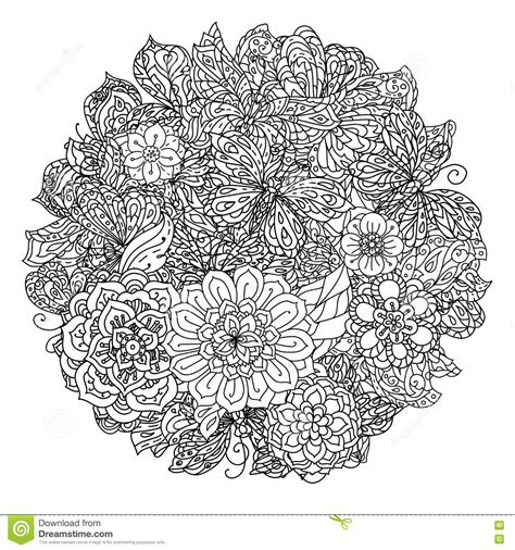 coloring pages for adult in zenart style antistress coloring page coloring book antistress style picture stock vector