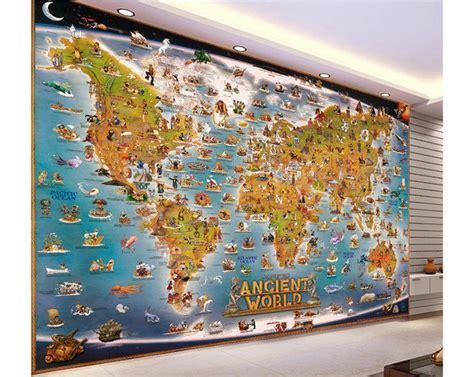 Animal Map Wallpaper Mural Map - 3d photo wallpaper custom 3d wall murals wallpaper stereo