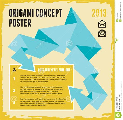 Information On Origami - origami concept poster royalty free stock images image