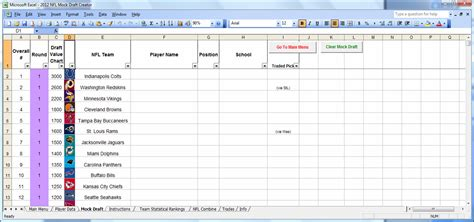 Spreadsheets Help by Excel Spreadsheets Help Downloadable 2012 Nfl Mock Draft