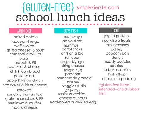 gluten free school lunch ideas simplykierste com