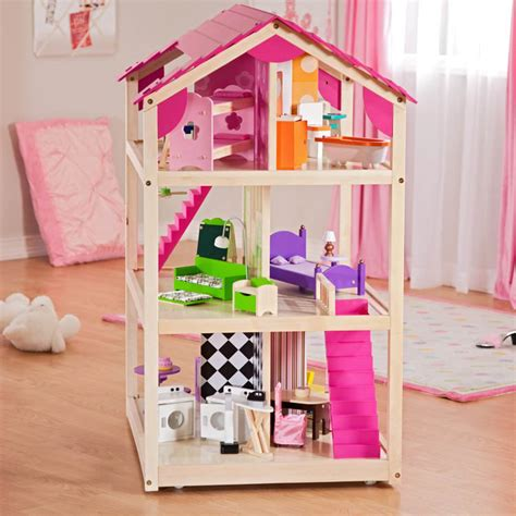 kid craft doll house kidkraft so chic dollshouse children wooden dollshouse
