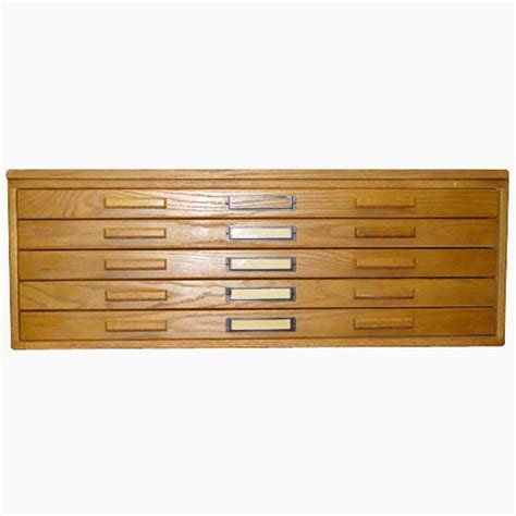 Drafting Cabinet by Vintage Oak Architectural Drafting Flat File Cabinet Ebay