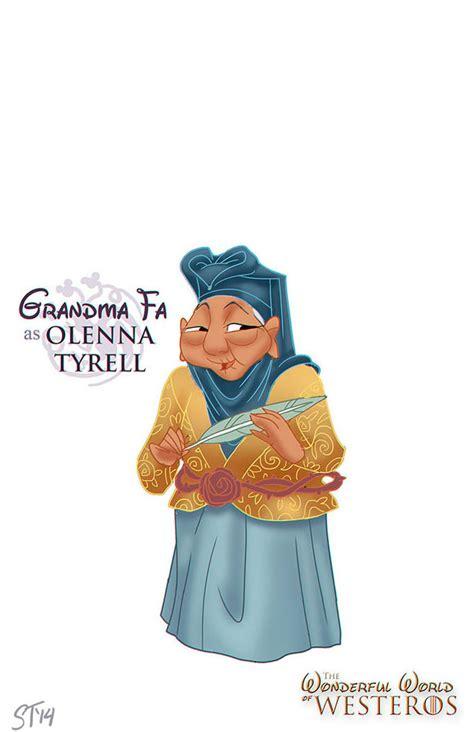 disney princess game thrones character grandma fa olenna tyrell