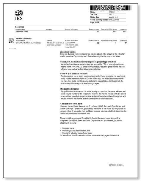 irs audit letter cp sample