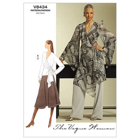 vogue patterns 9305 misses tunic and pants sewing tools vogue patterns v8434 misses top tunic