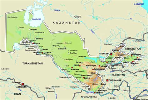 uzbekistan world map map of uzbekistan maps worl atlas uzbekistan map