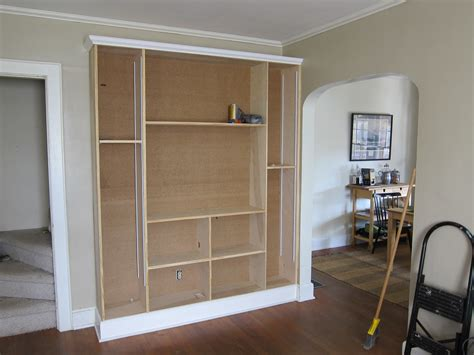 Diy Ikea Billy Bookcase Built In Wall Unit Escape From Bk