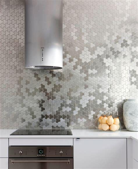 kitchen design idea install  stainless steel backsplash   sleek  contemporist