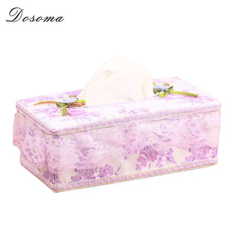 Tempat Tissu Unik Desk L Napkin new rustic rectangle fabric lace floral floral tissue box for ᗑ car car removable tissue