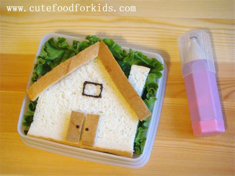 sandwich house cute food for kids build a sandwich house