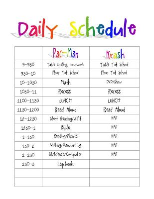 printable daily routine schedule template clipart autism