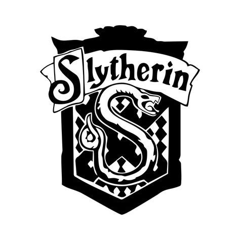 Hogwarts Logo Outline by Slytherin Harry Potter House Badge Crest Graphics Svg Dxf Eps Png Cdr Ai Pdf Vector Clipart
