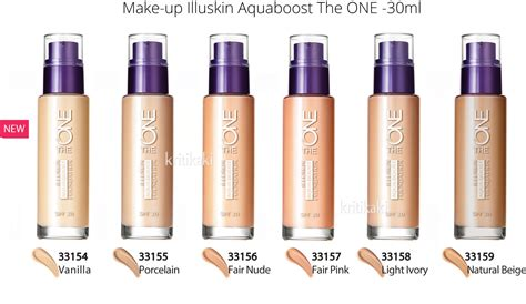 Make Up Oriflame make up illuskin aquaboost the one oriflame