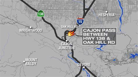 cajon pass fire map location of fire burning on san bernardino s cajon