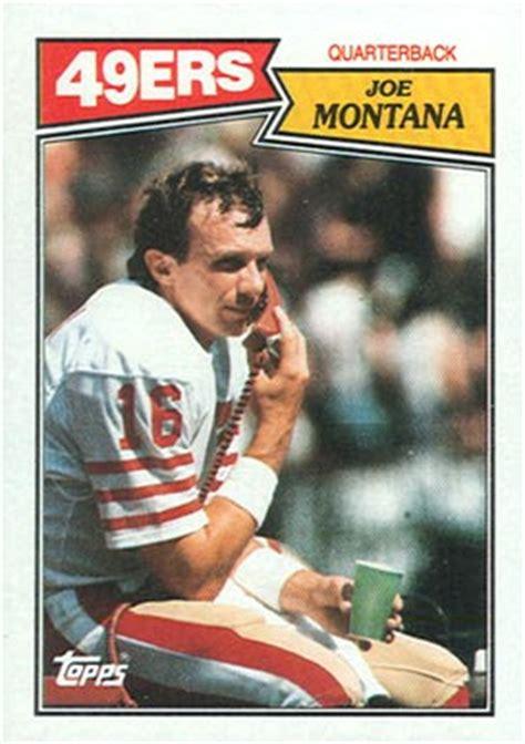football cards value 1987 topps joe montana 112 football card value price guide