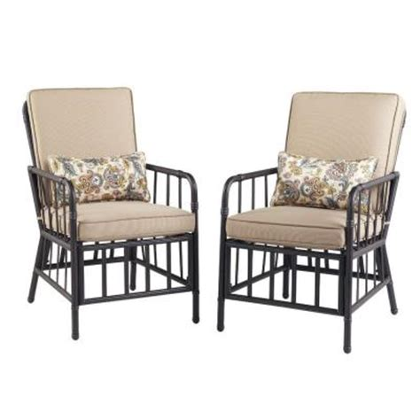 Martha Stewart Patio Chairs Martha Stewart Living Bryant Cove Patio Dining Chair 2 Pack Dybc D The Home Depot