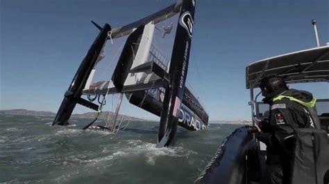 catamaran boat capsizes oracle catamaran capsizes youtube