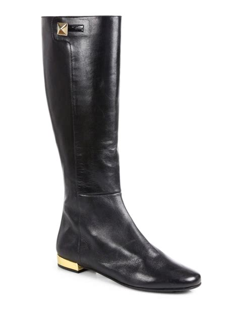 kate spade boots kate spade oliver leather kneehigh boots in black lyst