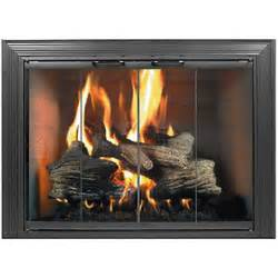 replacement glass fireplace doors gas logs best handcrafted vented logs in los angeles