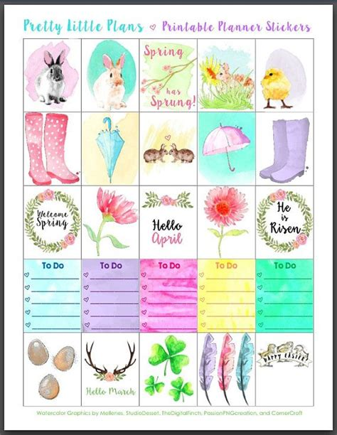 free printable easter planner stickers free easter planner stickers merry christmas and happy