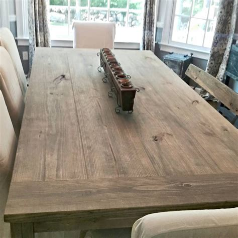 how to stain a table 7ft farmhouse table stain weathered grey seal matte i