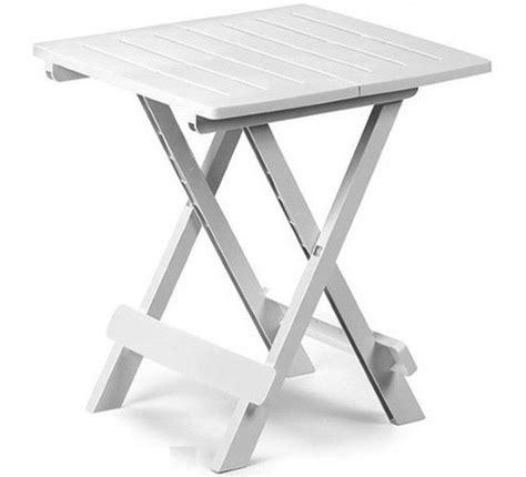 bijzettafel tuin kunststof bol kunststof tafel adige 45x43x50cm in wit