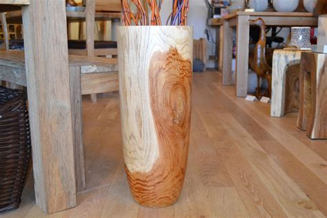 Large Floor Vase Wooden Floor Vase Large