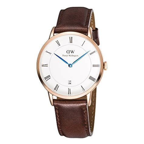 Daniel Wellington Dapper Silver Brown Leather daniel wellington dapper quartz with analog display and brown leather