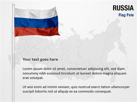powerpoint templates russia russia flag pole powerpoint map slides russia flag pole