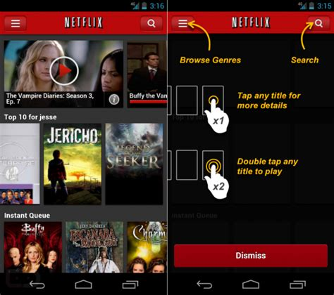 netflix for android netflix for android users seeing new user interface