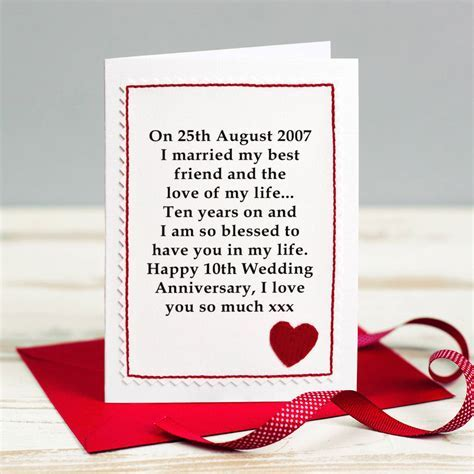 personalised wedding anniversary card by jenny arnott