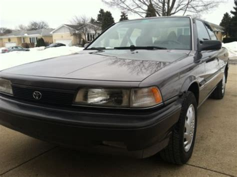 Toyota Camry 4 Cylinder Mpg Buy Used 1990 Toyota Camry Dx Charcoal Gray 4 Cylinder 30