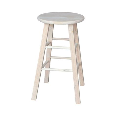 Unfinished Wood Bar Stool International Concepts 30 In Unfinished Wood Bar Stool 1s 530 The Home Depot
