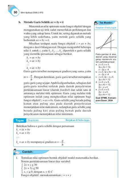Ebook 60 Fungsi e book matematika kls xii ips